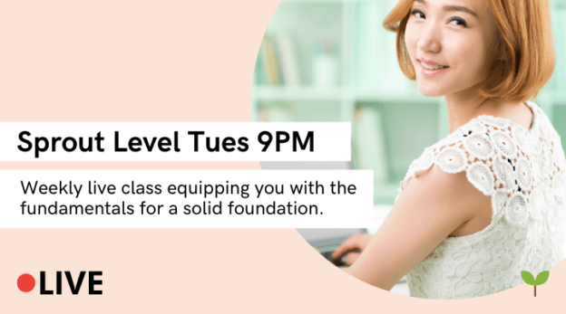 Yoon Ssam's Live Class (Sprout Level, Tues 9PM GMT+8) 2